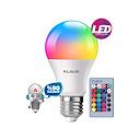 Klaus Uzaktan Kumandalı Renk Seçenekli LED Lamba Tasarruflu A++