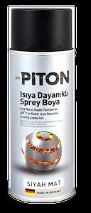 Piton Isıya Dayanıklı Spey Boya 400 ml Mat Siyah