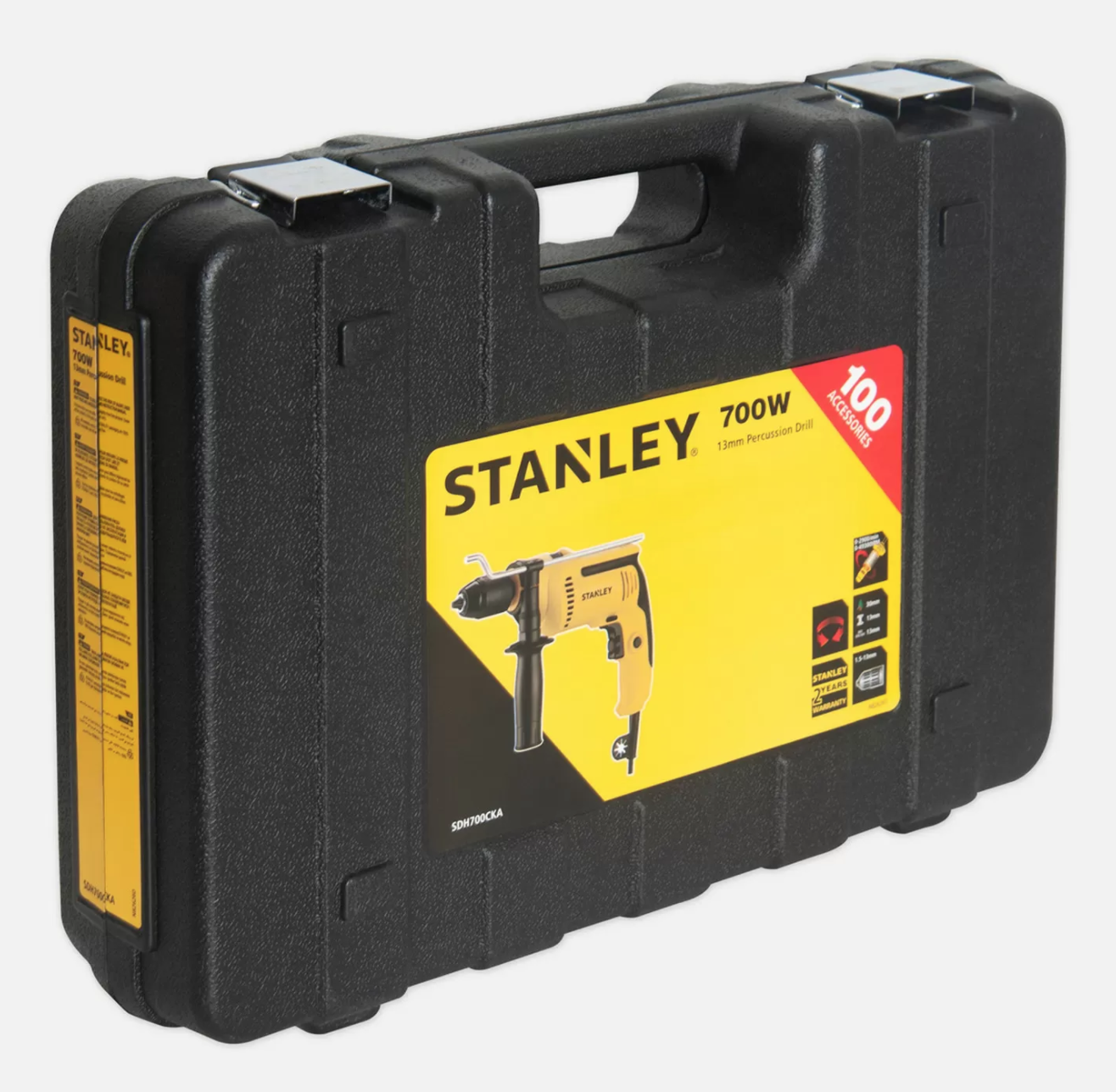 Stanley 700W 13mm Darbeli Matkap (100 Parça Aksesuar Hediyeli) SDH700CKA